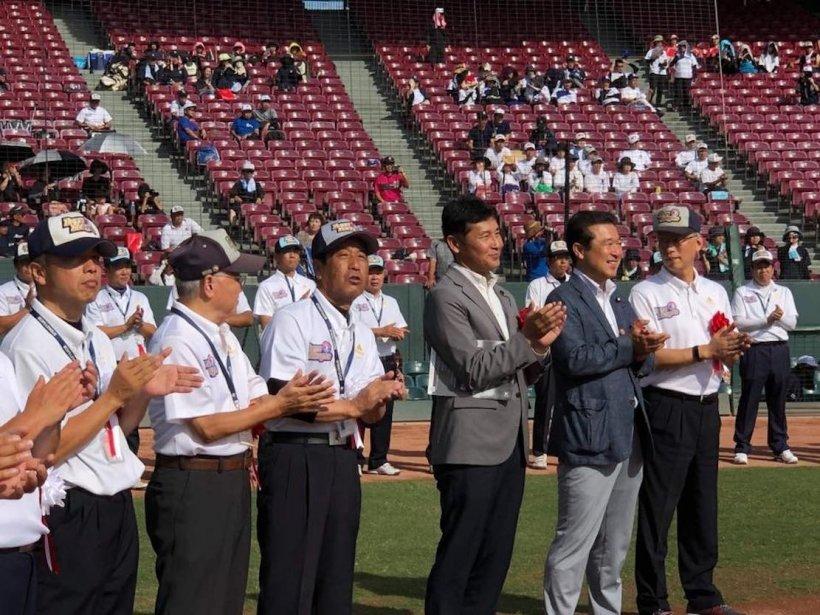 第43回ミズノ旗争奪広島市民球場大会にてご挨拶(8月10日)